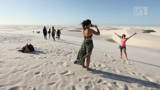 Lençóis Maranhenses: turismo de lagoas paradisíacas entre dunas a perder de vista