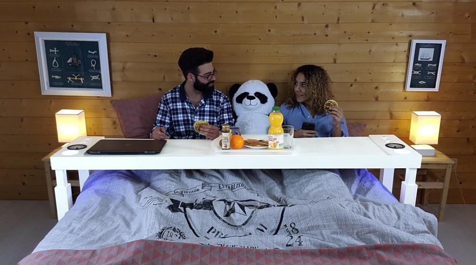 bedchill, mesa, cama (Foto: Reprodução/Facebook/Bedchill)