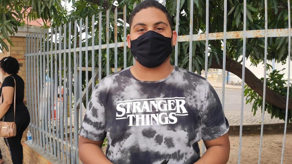 ENEM 2020: Mossoró, 17/01/2020 - Pedro Lucas Calado, de 18 anos, fala que preferia que provas fossem adiadas.  — Foto: Isaiana Santos/Inter TV Costa Branca