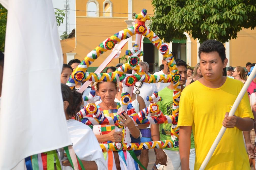 -  Sairé é a maior manifestação folclórica do oeste do Pará e é realizado em Alter do Chão  Foto: Adonias Silva/G1