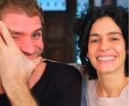 Maria Flor e o marido, Emanuel Aragão   Reprodução