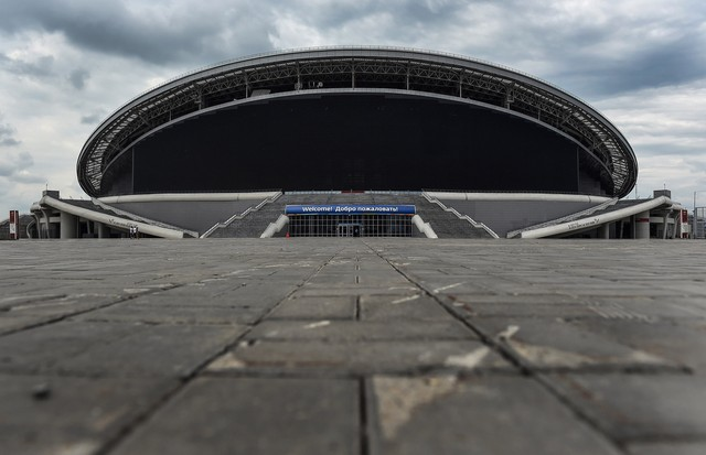 KAZAN, RUSSIA - JULY 11:  General views of the Kazan Arena during a media tour of Russia 2018 FIFA World Cup venues on July 11, 2015 in Kazan, Russia.  (Photo by Laurence Griffiths/Getty Images) (Foto: Getty Images)