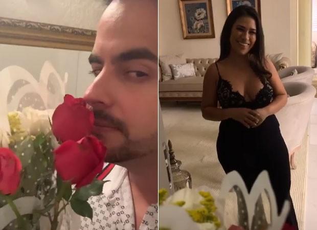 Kaká Diniz faz surpresa para Simone (Foto: Reprodução)