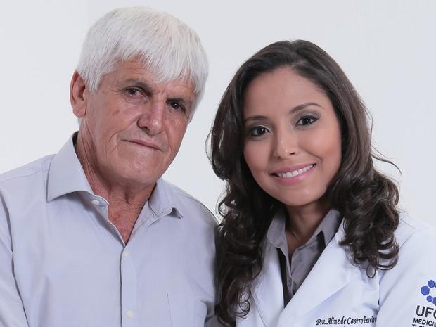 Aline de Castro, de 27 anos, afimra que conseguiu de formar em medicina graças ao esforço do pai Goiânia Goiás (Foto: Reprodução/Studio Onze)