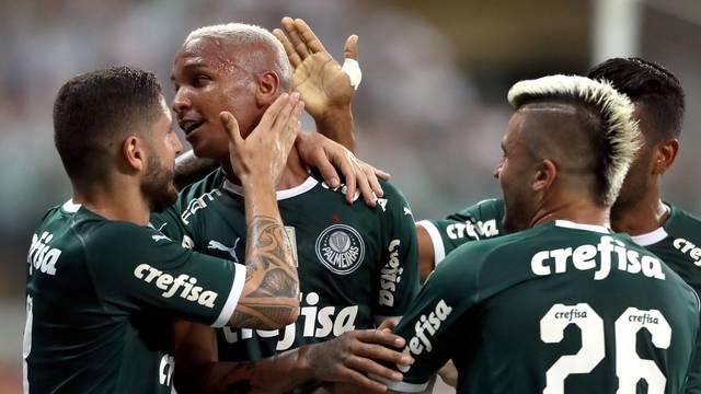 Deyverson comemora o gol do Palmeiras