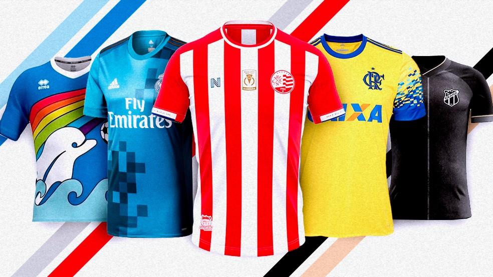 Camisas de time de futebol criadas por torcedores — Foto: Arte/GloboEsporte.com