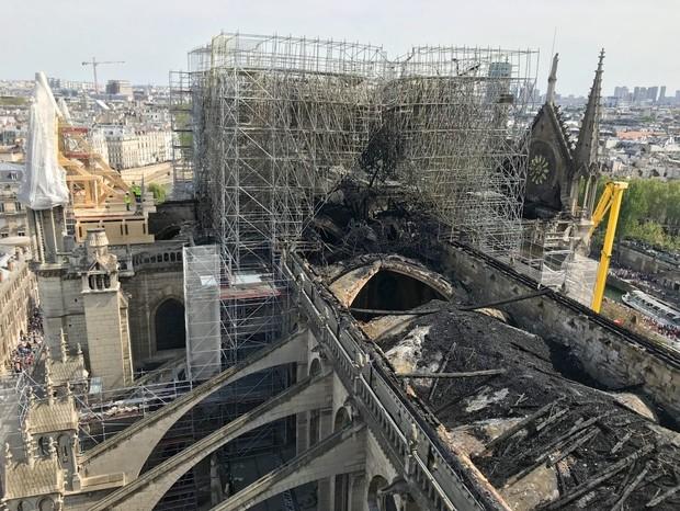 Notre-Dame arrecada quase R$ 5 bi para reconstrução, mas valor não é suficiente (Foto: notre-dame)