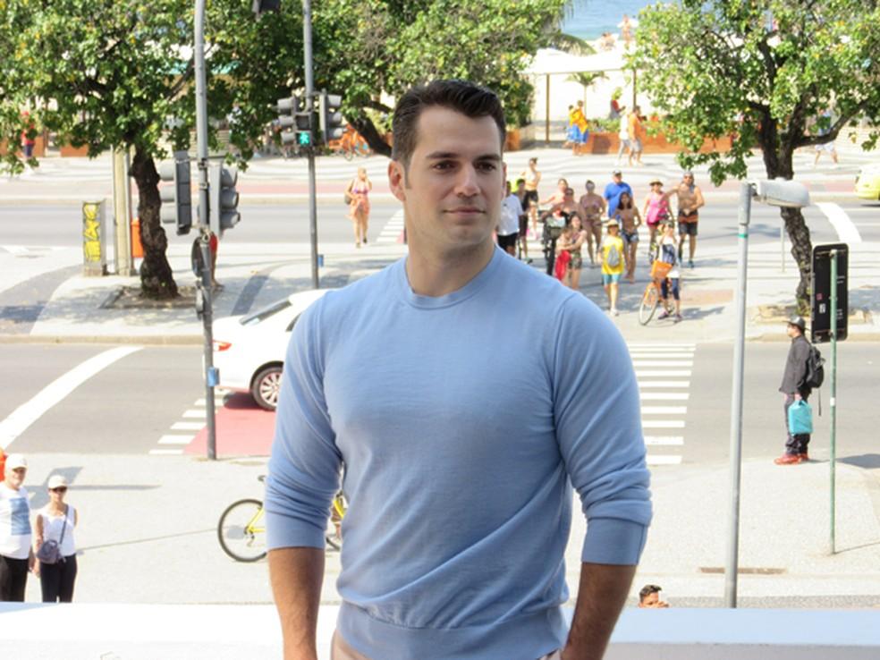 -  Henry Cavill, que vive o Superman nos cinemas, lança em Copacabana, no Rio, o filme de ação   39;O agente da U.N.C.L.E.  39;, em 2015  Foto: Celio Jr