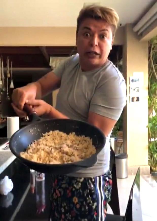 David Brazil em churrasco na casa de Anitta (Foto: Reprodução/Instagram)