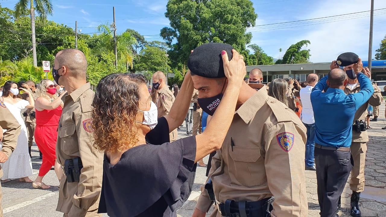 Polícia Militar realiza solenidades de entrega da boina a alunos do Curso de Formação de Soldados