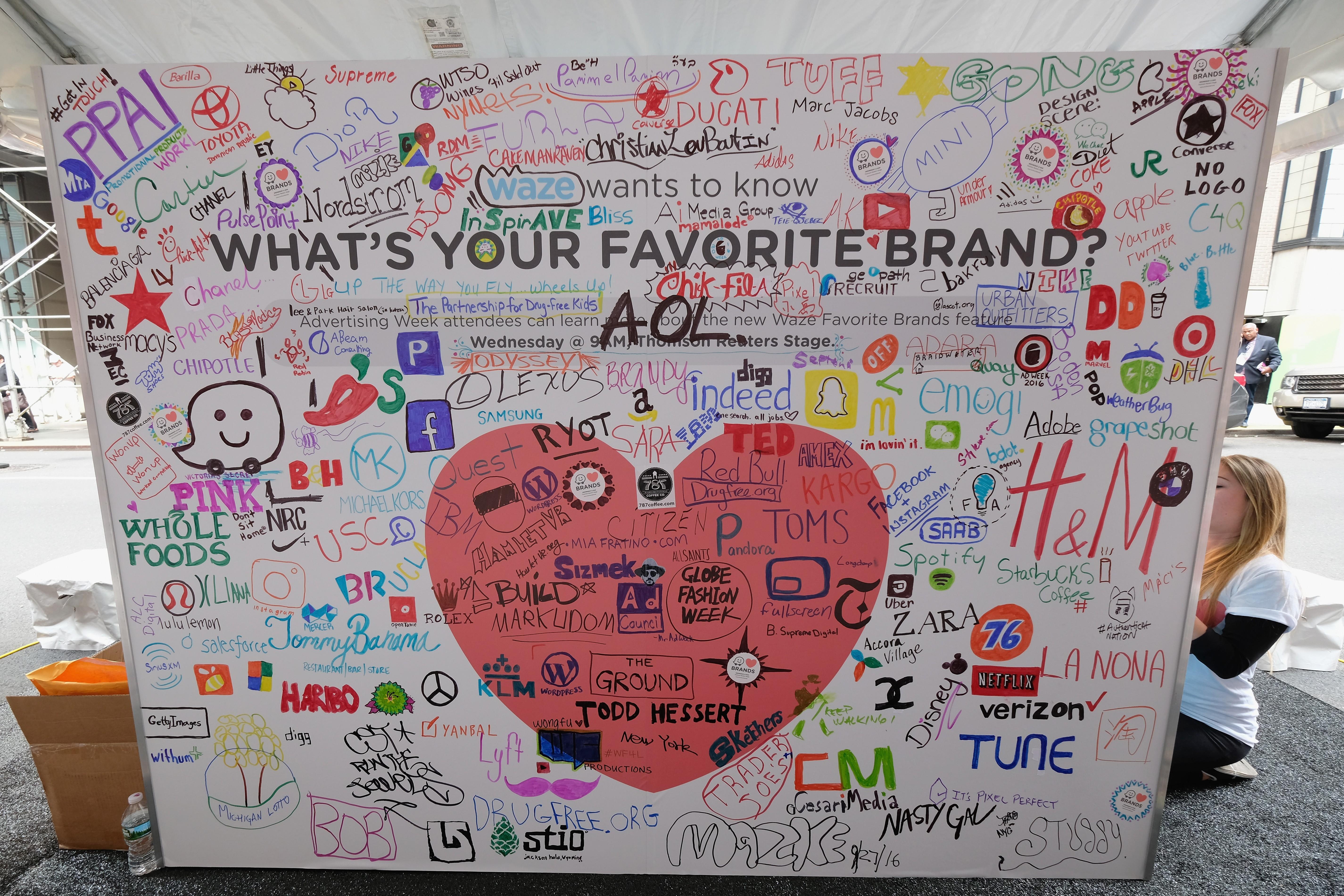 Mural do Waze celebra marcas diversas (Foto: Getty Images)