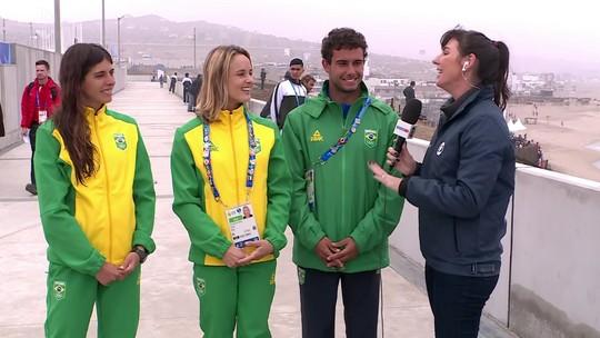 Nicole Pacelli perde para colombiana e fica com a medalha de bronze no SUP no Pan de Lima