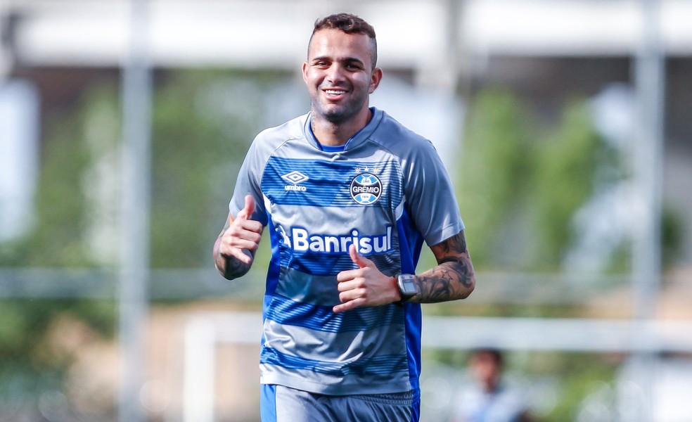 Luan injeta confiança no Tricolor (Foto: Lucas Uebel/Grêmio)