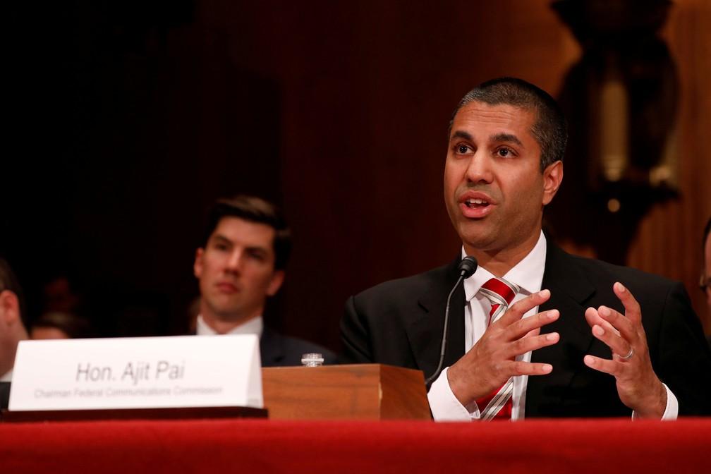 Ajit Pai, presidente da Comissão Federal das Comunicações (FCC). (Foto: Aaron P. Bernstein/Reuters)