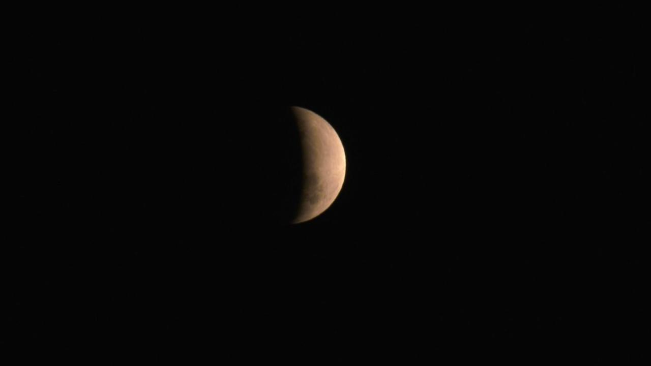Eclipse lunar é visto em Campos, no RJ - Notícias - Plantão Diário