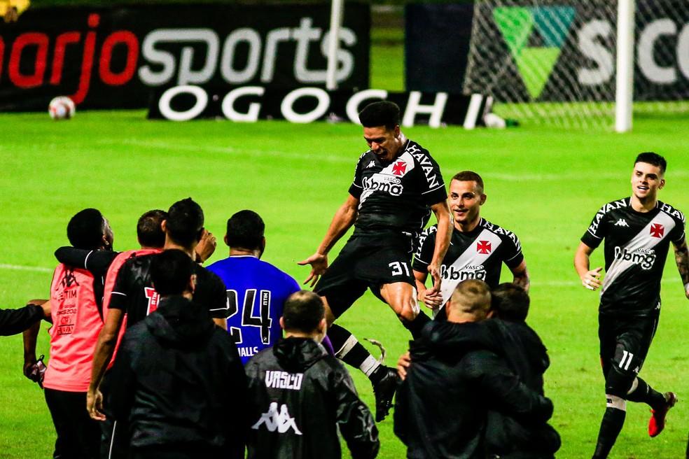 CSA x Vasco; comemoração de Marquinhos Gabriel — Foto: Ailton Cruz/Gazeta de Alagoas