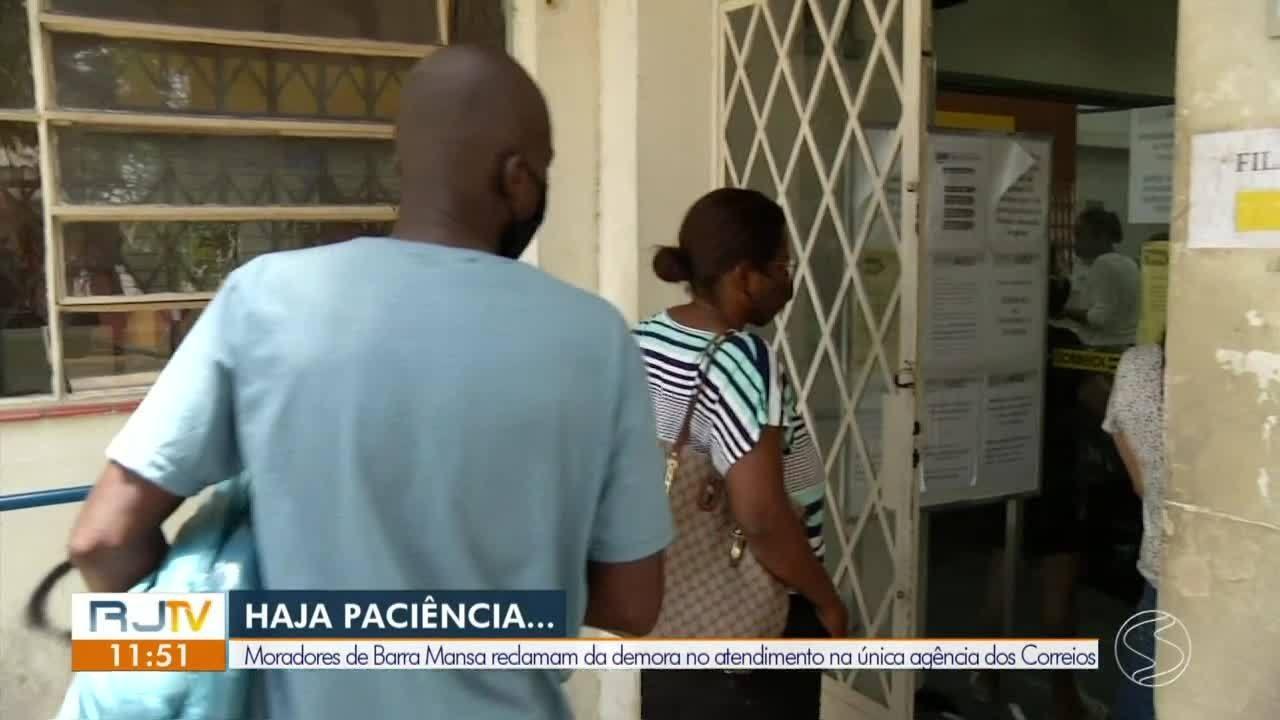 Moradores de Barra Mansa reclamam da demora no atendimento dos Correios