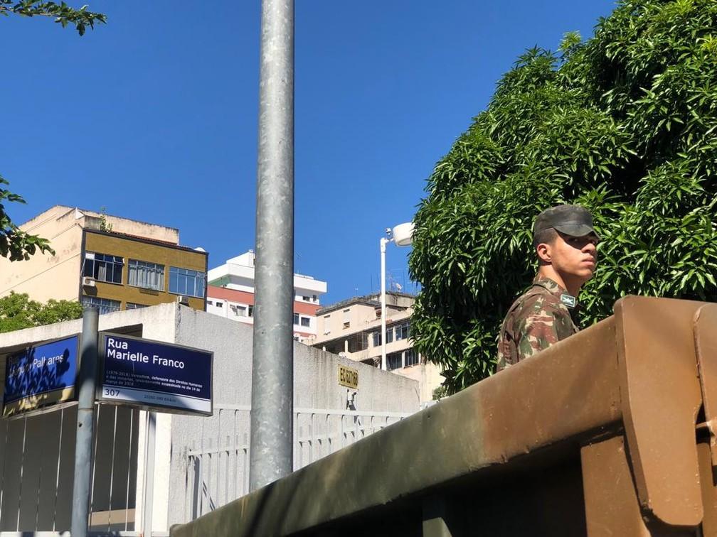Militares preparam reconstituição do Caso Marielle (Foto: Carlos Brito/G1)
