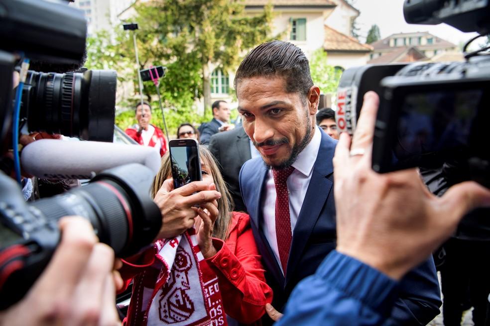 Guerrero foi julgado no CAS, na Suiça, no início da semana (Foto: Efe)