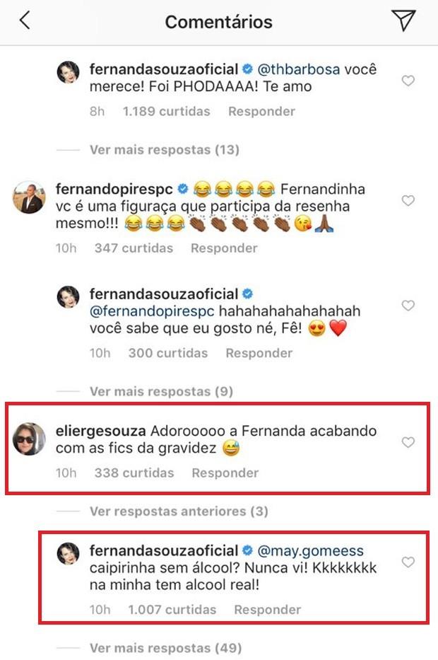 Fernanda Souza afasta boatos de gravidez (Foto: Reprodução/Instagram)