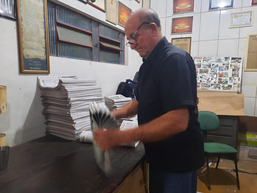Adair foi o fundador do jornal em Cacoal — Foto: Matheus Afonso/Rede Amazônica