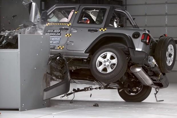 Jeep Wrangler Capotagemento IIHS (Foto: Divulgação)