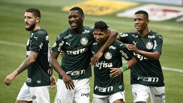 Rony após o terceiro gol do Palmeiras