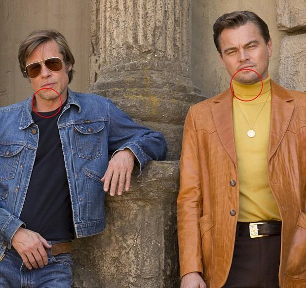 Brad Pitt e Leonardo DiCaprio com Photoshop (Foto: © Sony Pictures Entertainment)