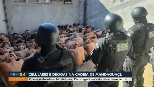 Operação apreende celulares e maconha em cadeia de Mandaguaçu