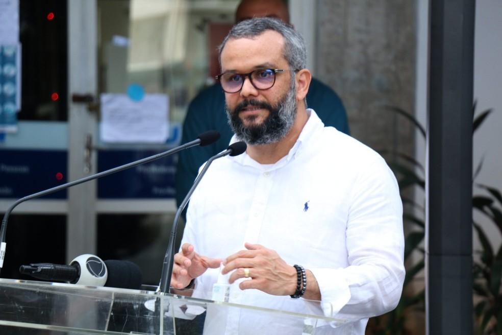 Ricardo Valentim é coordenador do Laboratório de Inovação Tecnológica em Saúde — Foto: Arthur Barbalho/Lais/UFRN