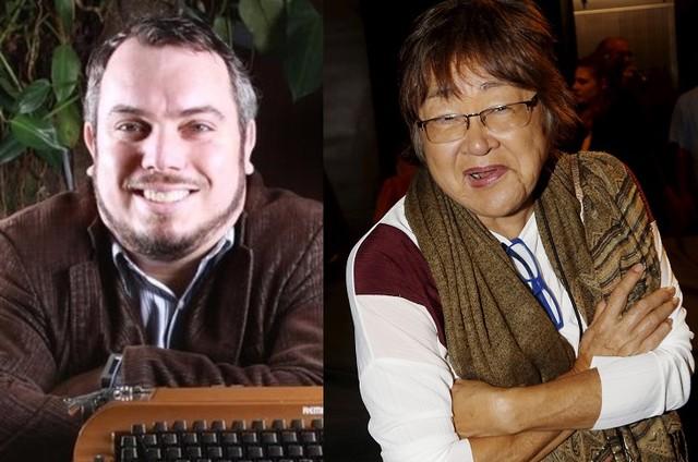 Maurício Gyboski e Tizuka Yamasaki (Foto: Reprodução e Marcos Ramos)
