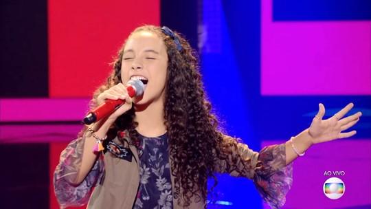 Luiza Barbosa vai para a semifinal do 'The Voice Kids' com 59,68% dos votos do público