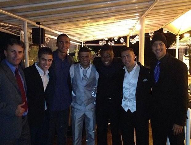 Jogadores Botafogo casamento Jadson (Foto: Arquivo Pessoal)