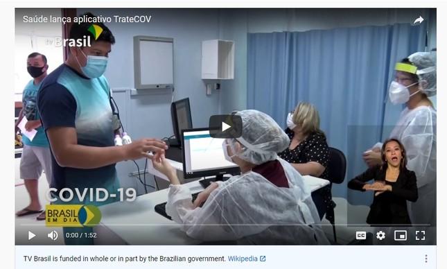 Vídeo sobre o aplicativo TrateCOV