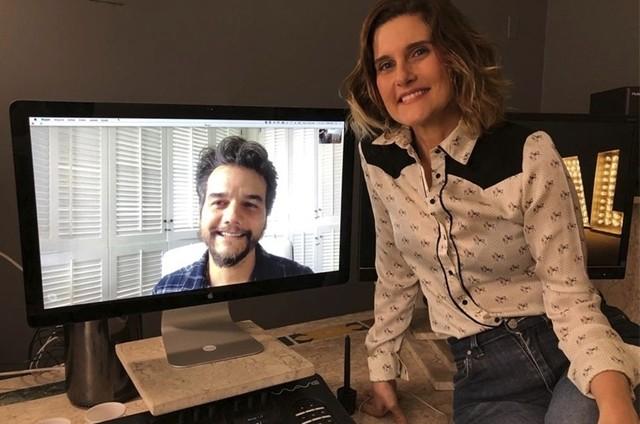 Wagner Moura e Simone Zuccolotto (Foto: Arquivo pessoal)
