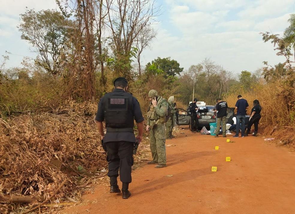 Houve confronto e seis morreram — Foto: Polícia Militar