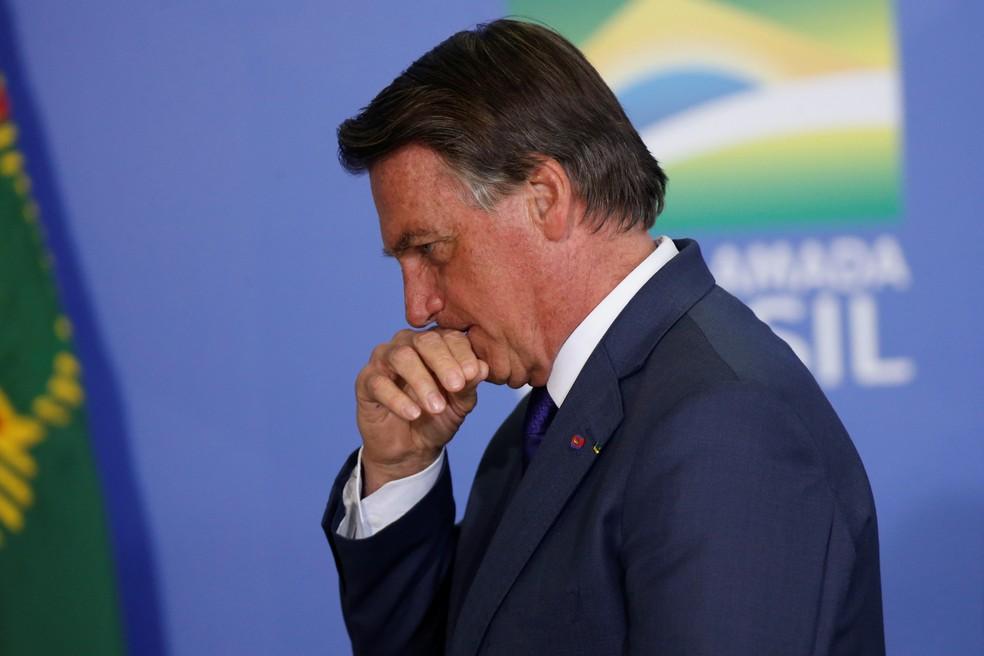 O presidente Jair Bolsonaro em imagem de 2 de setembro de 2021 — Foto: Adriano Machado/Reuters