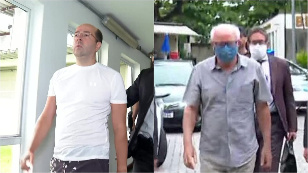 Rafael Alves e Mauro Macedo foram presos na mesma operação que prendeu o prefeito Marcelo Crivella — Foto: TV Globo/Reprodução