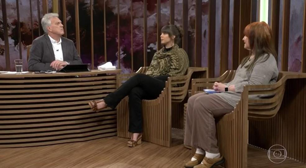 Zahira Mous e Amy Biank foram entrevistadas em 2018 no 'Conversa com Bial' — Foto: Globo