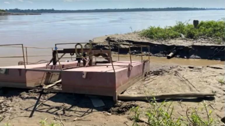 Flutuante da Caerd é furtado e gera preocupação no abastecimento de água em Porto Velho