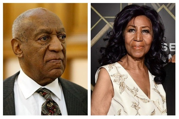 Bill Cosby e Aretha Franklin (Foto: Getty Images)