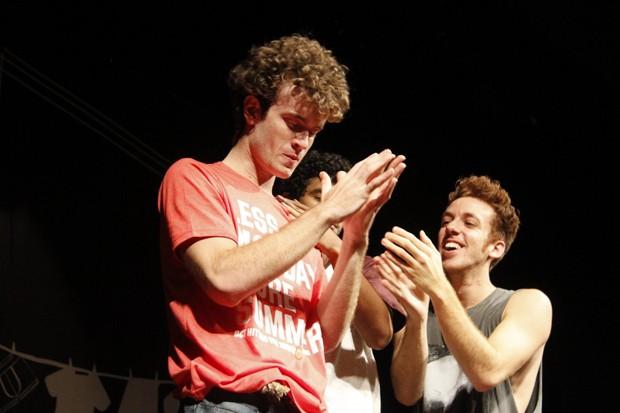 Vitor Thiré com Bruno Suzano e João Cortez (Foto: Marcos Ferreira / Brazil News)