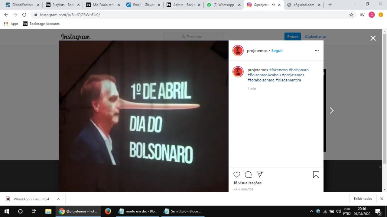 São Paulo tem panelaço contra o presidente Jair Bolsonaro pelo 16º dia seguido