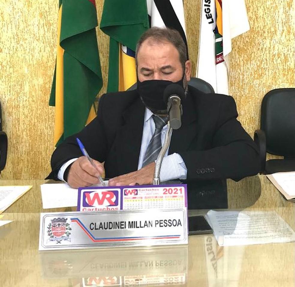 Presidente da Câmara Municipal de Dracena, Claudinei Millan Pessoa (PP), o Melão — Foto: Câmara Municipal de Dracena