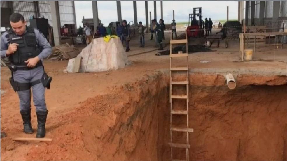 Vítima trabalhavam na construção de armazém em Sorriso — Foto: TVCA/Reprodução