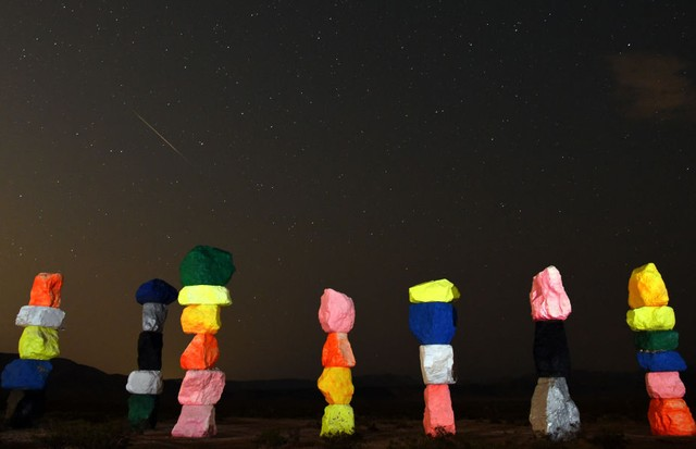 Seven Magic Mountains, em Las Vegas (Foto: Getty Images)