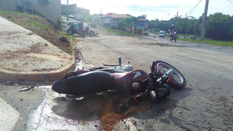 Motociclista morreu em acidente de trânsito em Itu (Foto: João Vitor/Jornal Periscópio)