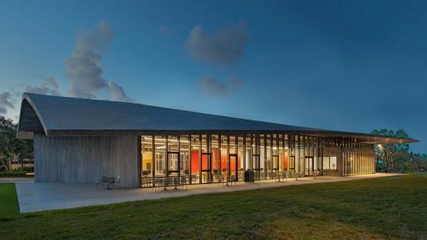 Escola de arquitetura em Miami ganha edifício com telhado curvo (Foto: Divulgação )