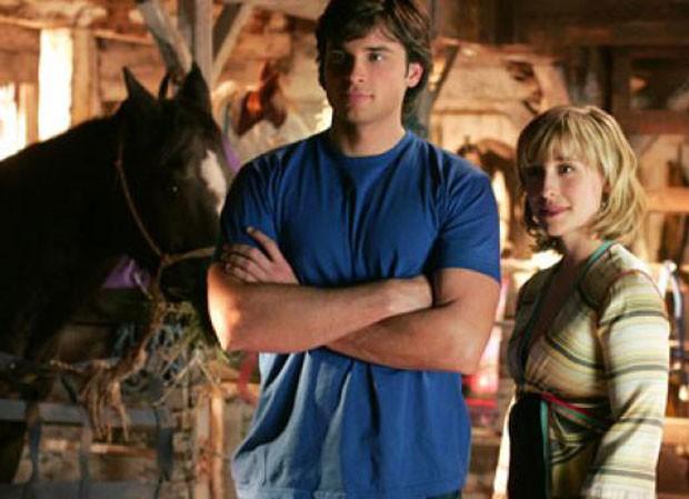 Tom Welling e Allison Mack em Smallville (Foto: Reprodução)