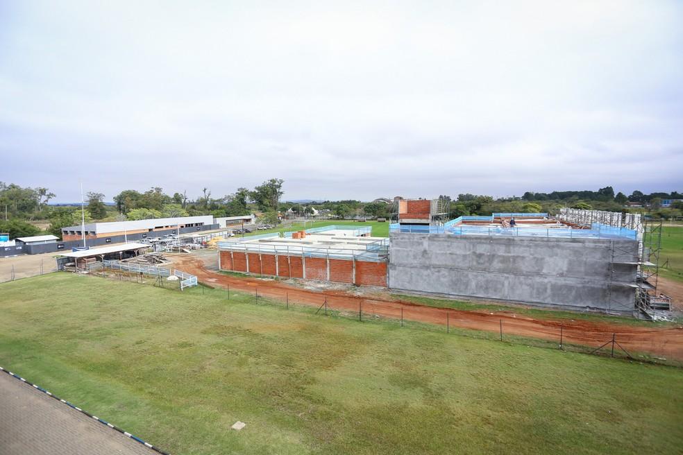 Obras do CT Hélio Dourado, do Grêmio — Foto: Divulgação/Grêmio
